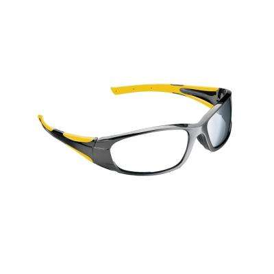 Holmes Workwear Black Frame with Yellow Accents Tinted Scratch Resistant Lenses Safety Glasses (Case of 4)