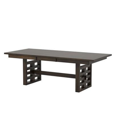 Juana Walnut Dining Table with 18 in. Extension Leaf