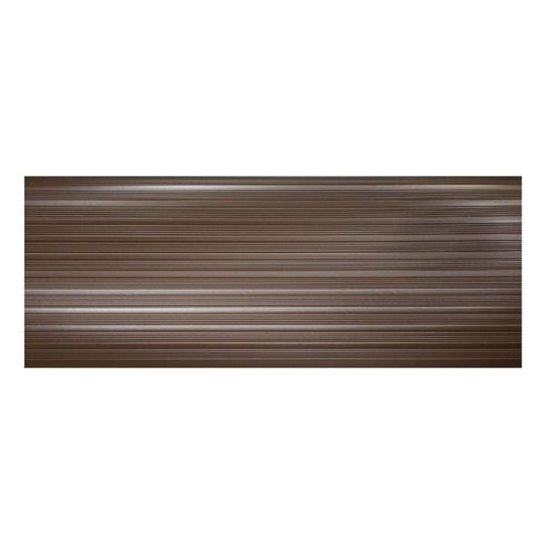 Brown 9.25 in. x 24 in. PVC Stair Tread Cover