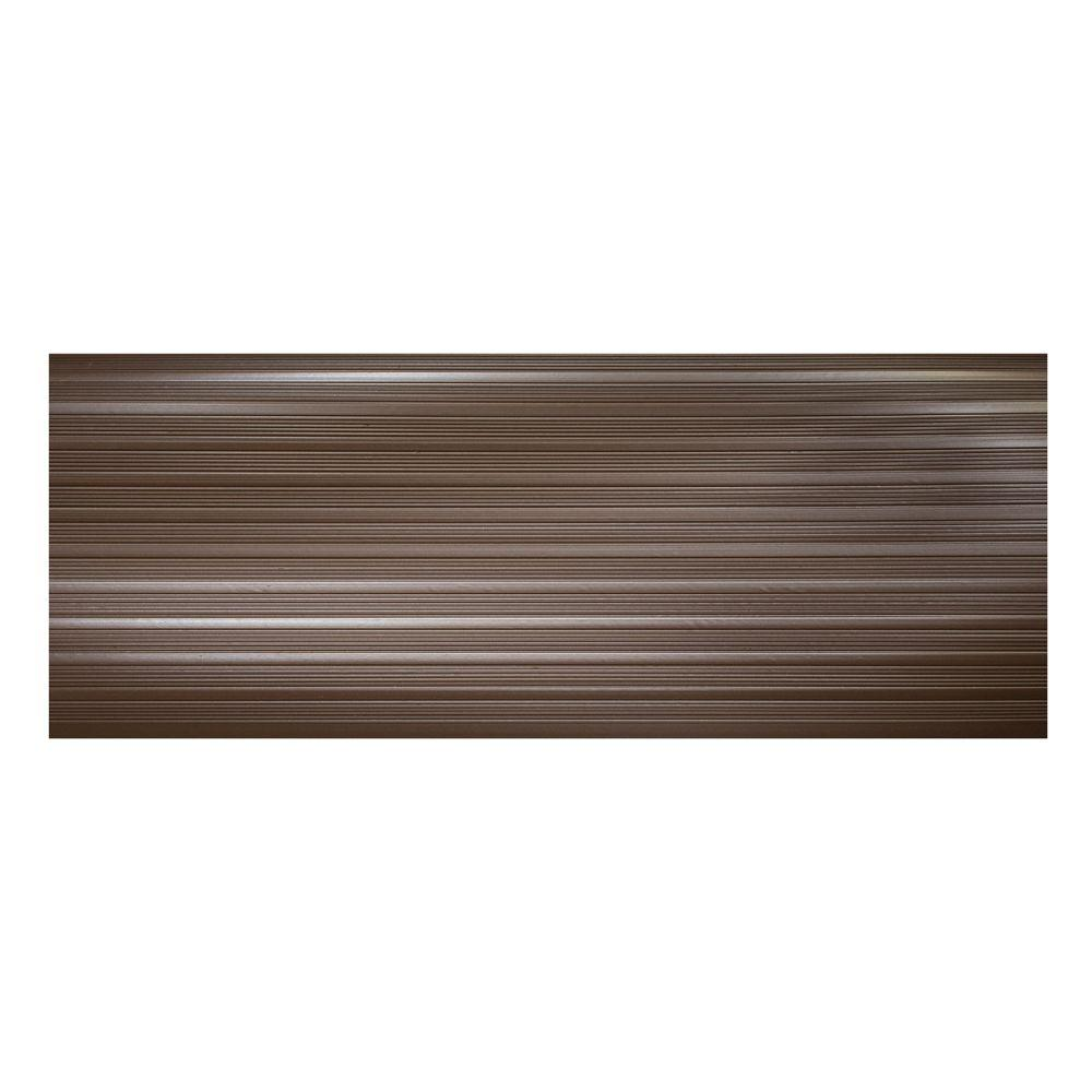 Brown 9.25 In. X 24 In. PVC Stair Tread