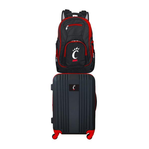 NCAA Deluxe 2-Piece Backpack /& Carry-On Set Black