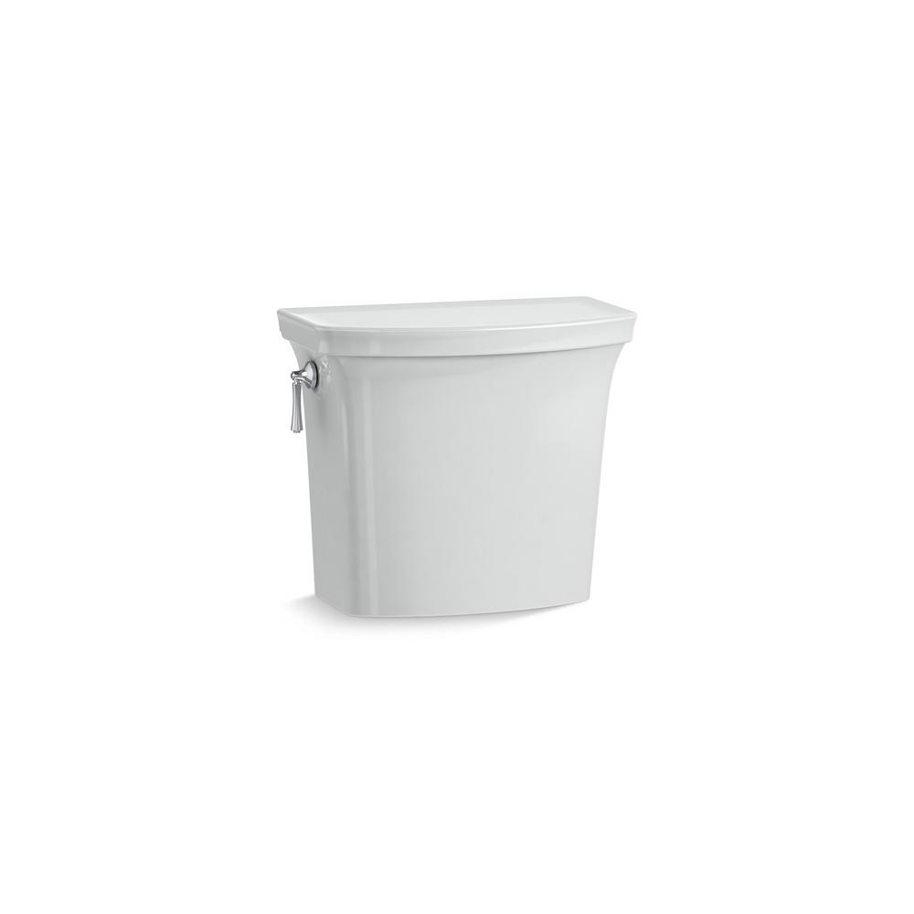 Corbelle 1.28 GPF Single Flush Toilet Tank Only in Ice Grey
