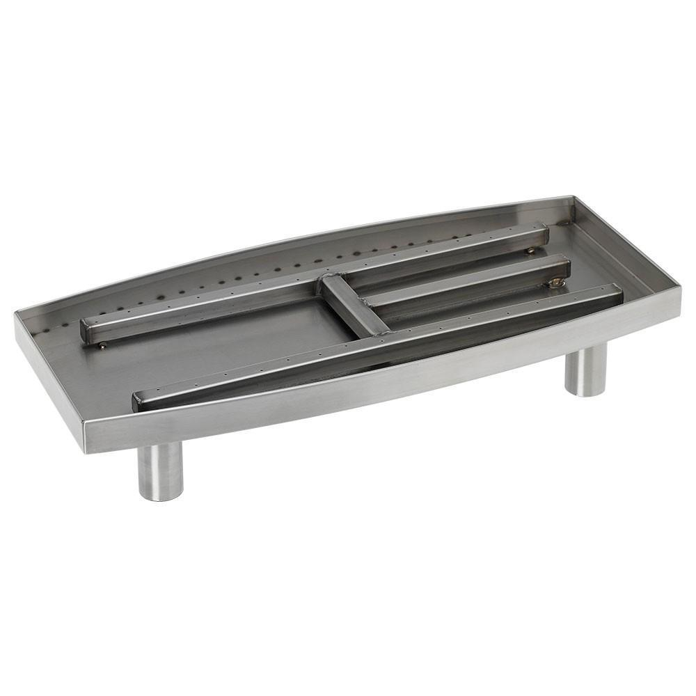22 in. Oval Stainless Steel Pan Burner