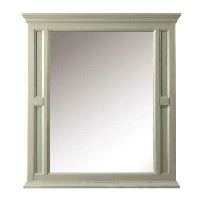 Charleston 33 in. W x 36 in. H Single Wall Mirror in Grey