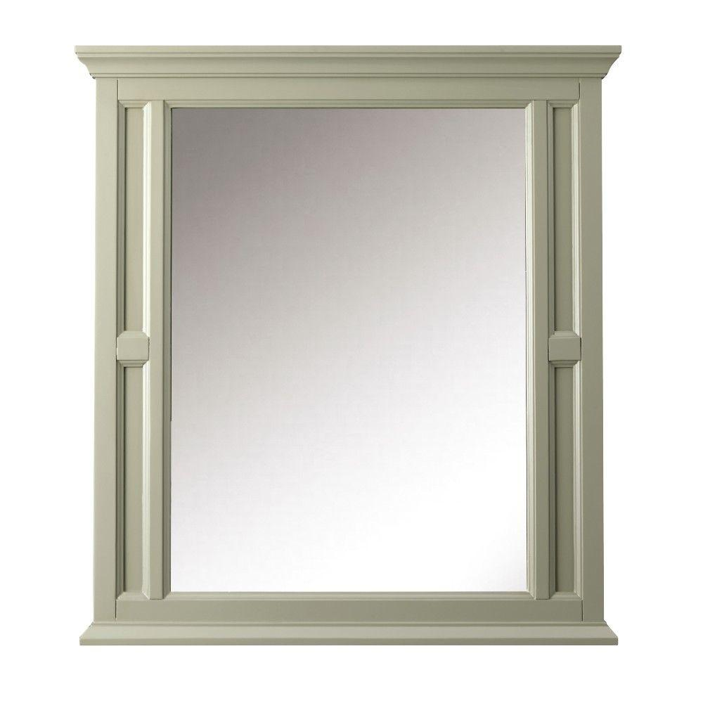 Home Decorators Collection Charleston 33 in. W x 36 in. H Single Wall Mirror in Grey