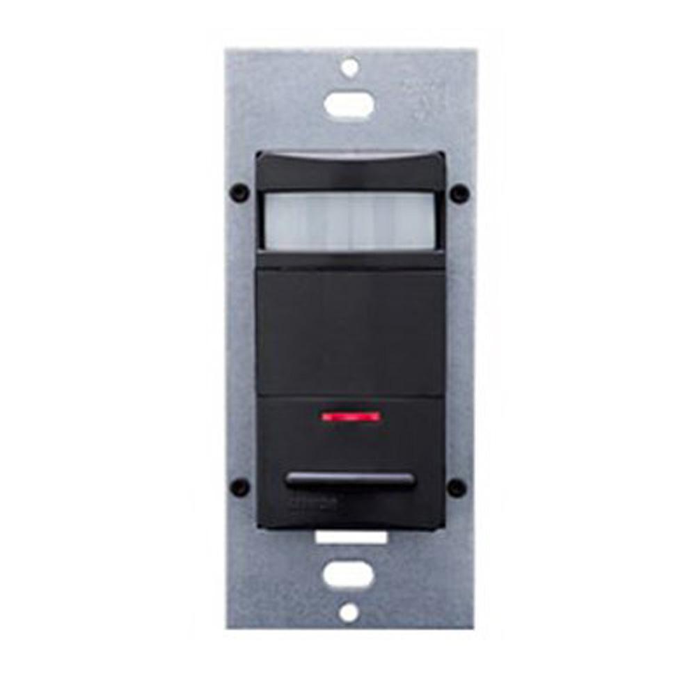 Decora Commercial Grade Passive Infrared Single-Pole 2100 sq. ft. 180-Degree Occupancy Sensor, Black