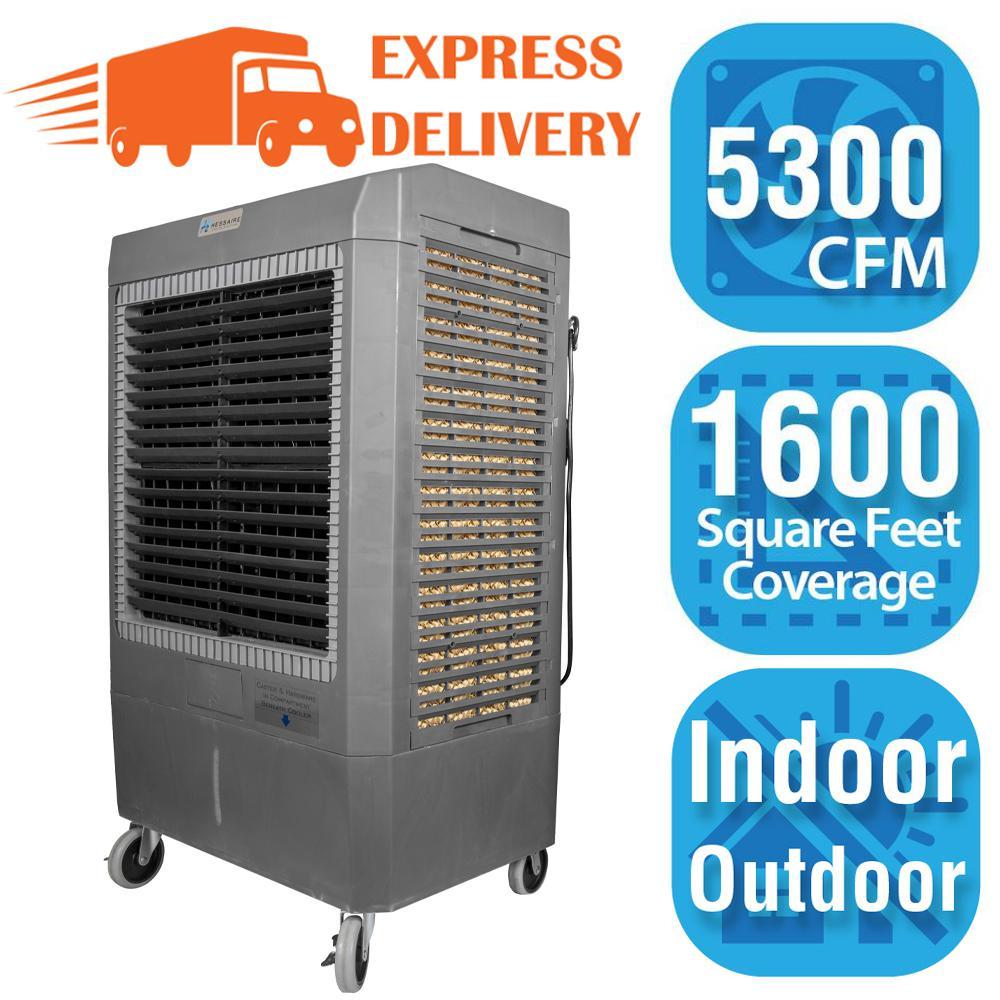 5,300 CFM 3-Speed Portable Evaporative Cooler (Swamp Cooler) for 1,600 sq. ft.