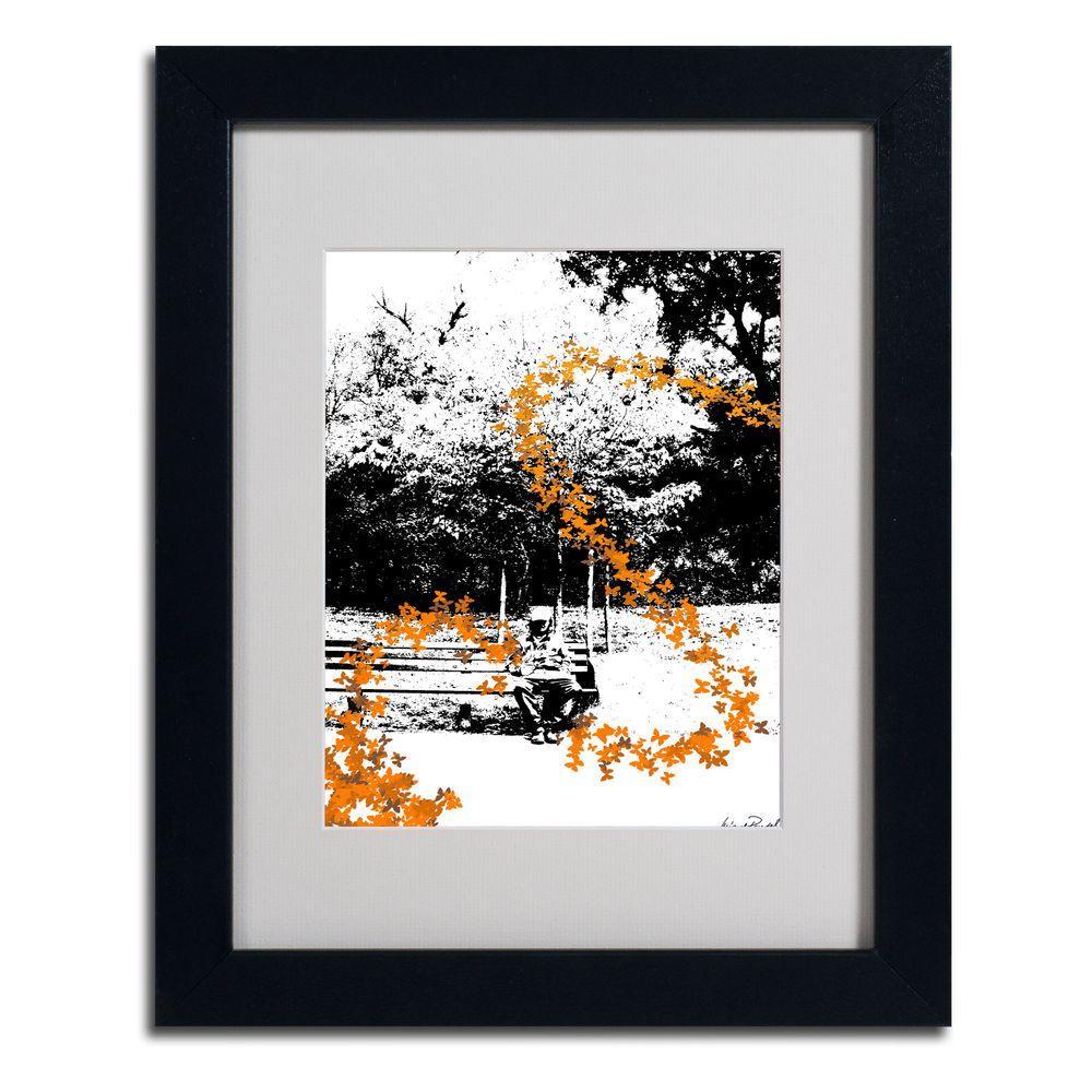 Trademark Fine Art 11 in. x 14 in. Orange Butterflies Matted Framed ...