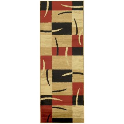 Pasha Collection Red 2 ft. x 7 ft. Runner Rug
