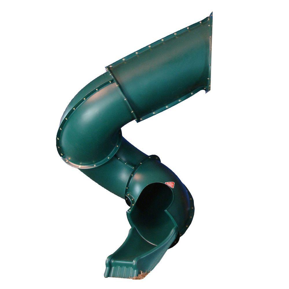 Swing n slide playsets green turbo tube slide ne 4405 t for T shaped swing set