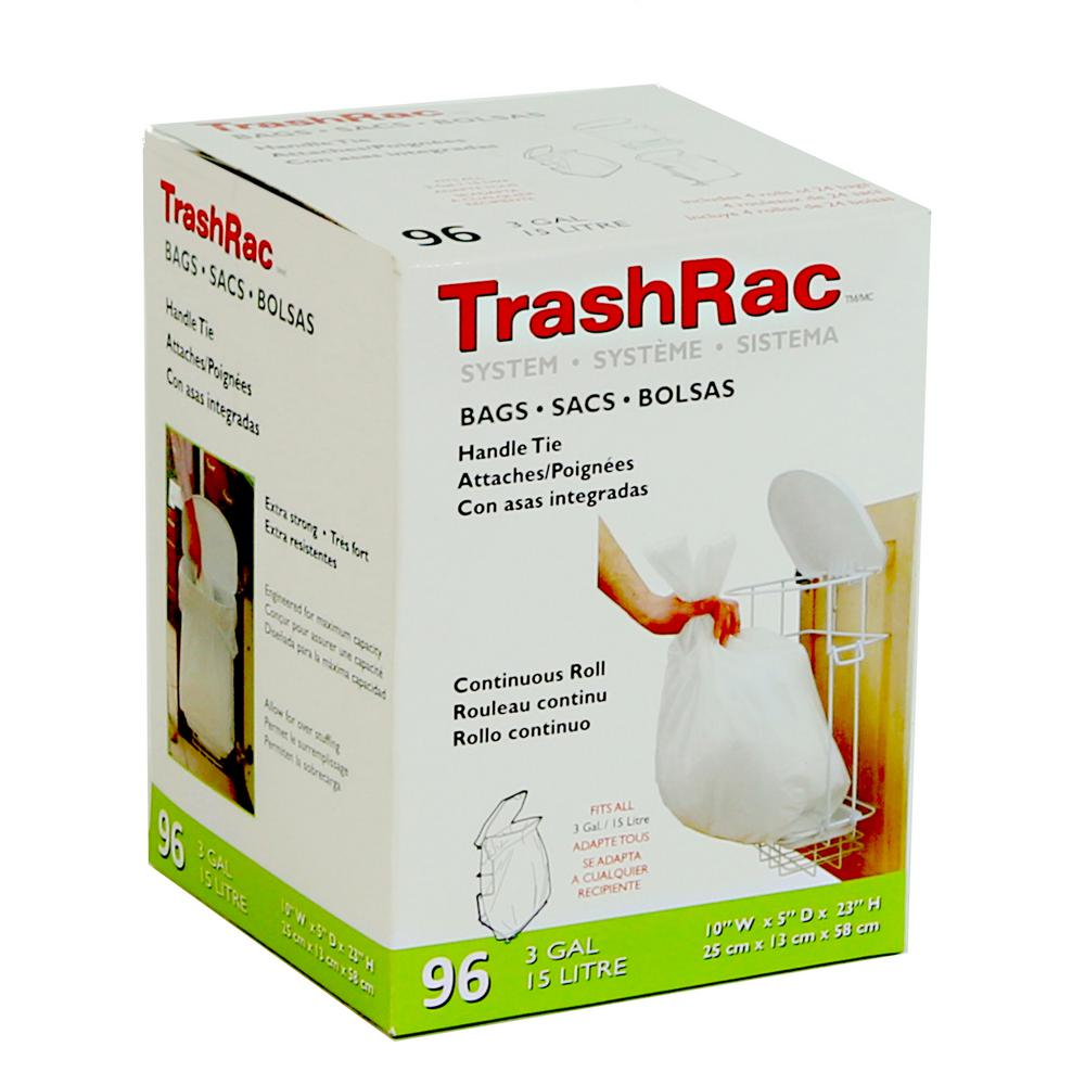 3 Gal. Trash Bags (96-Count) (4 Rolls of 24 Bag)