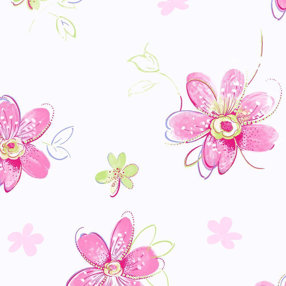 York Wallcoverings Bohemian Floral Wallpaper