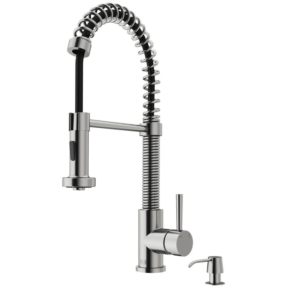 VIGO Edison Single-Handle Pull-Down Sprayer Kitchen Faucet with - Sale: $177.90 USD (15% off)
