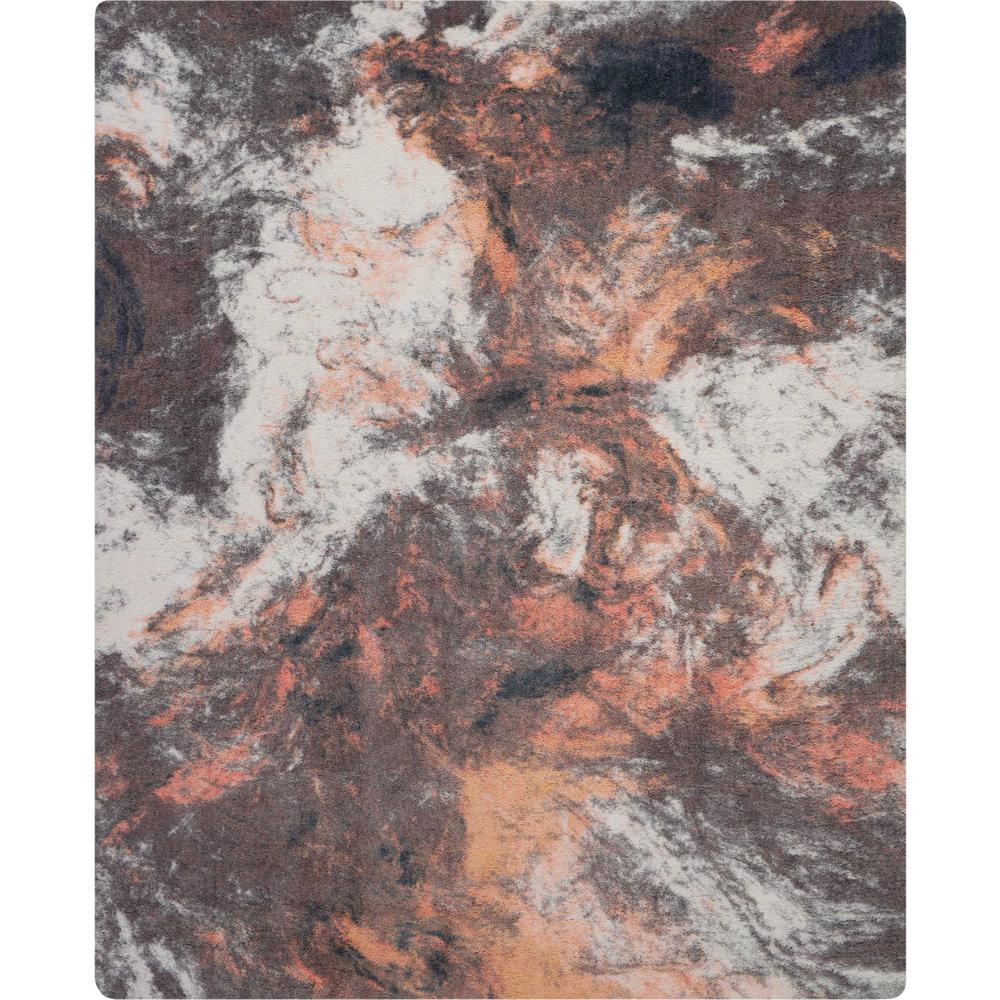 Abstract Shag 8' x 10' Orange Multicolor Colorful Area Rug