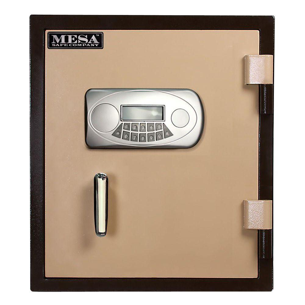 MESA 1.1 cu. ft. U.L. Classified All Steel Fire Safe with Electronic Lock and Interior Light in 2-Tone Brown and Tan