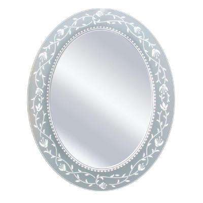 23 in. x 29 in. Fushcia Oval Mirror