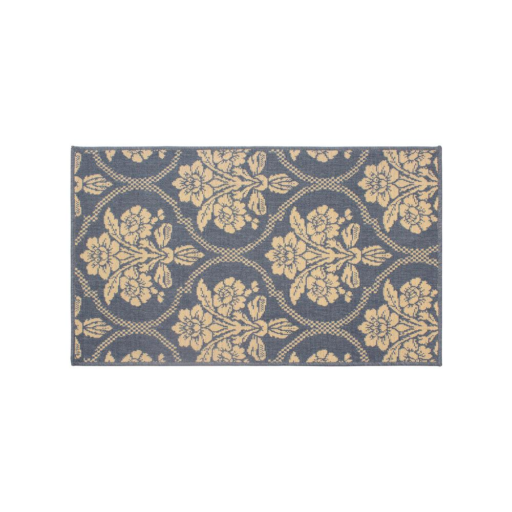 Tatton in Chain Navy (Blue) 3 ft. x 2 ft. Indoor/Outdoor Accent Rug
