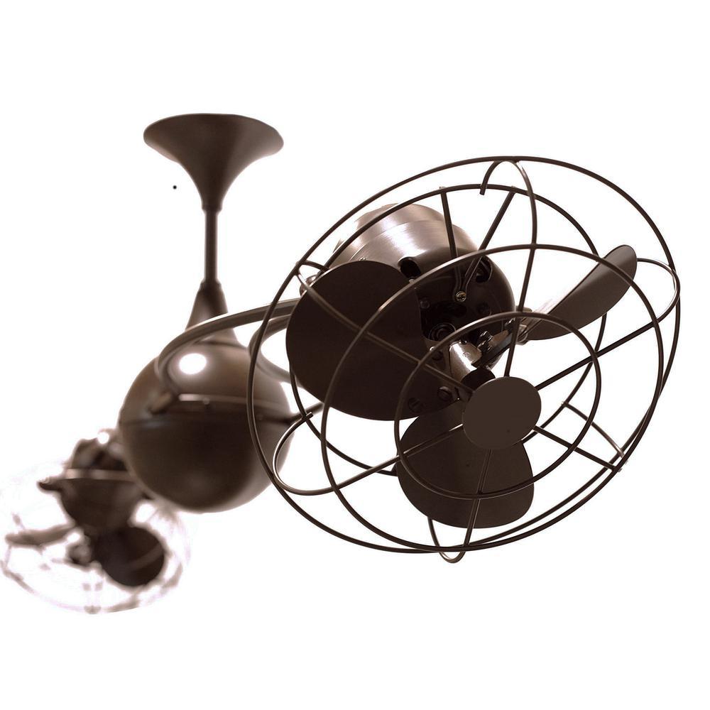 radionic hi tech rylie 60 in 6 blade bronzette ceiling fan mf iv bzzt mtl the home depot. Black Bedroom Furniture Sets. Home Design Ideas