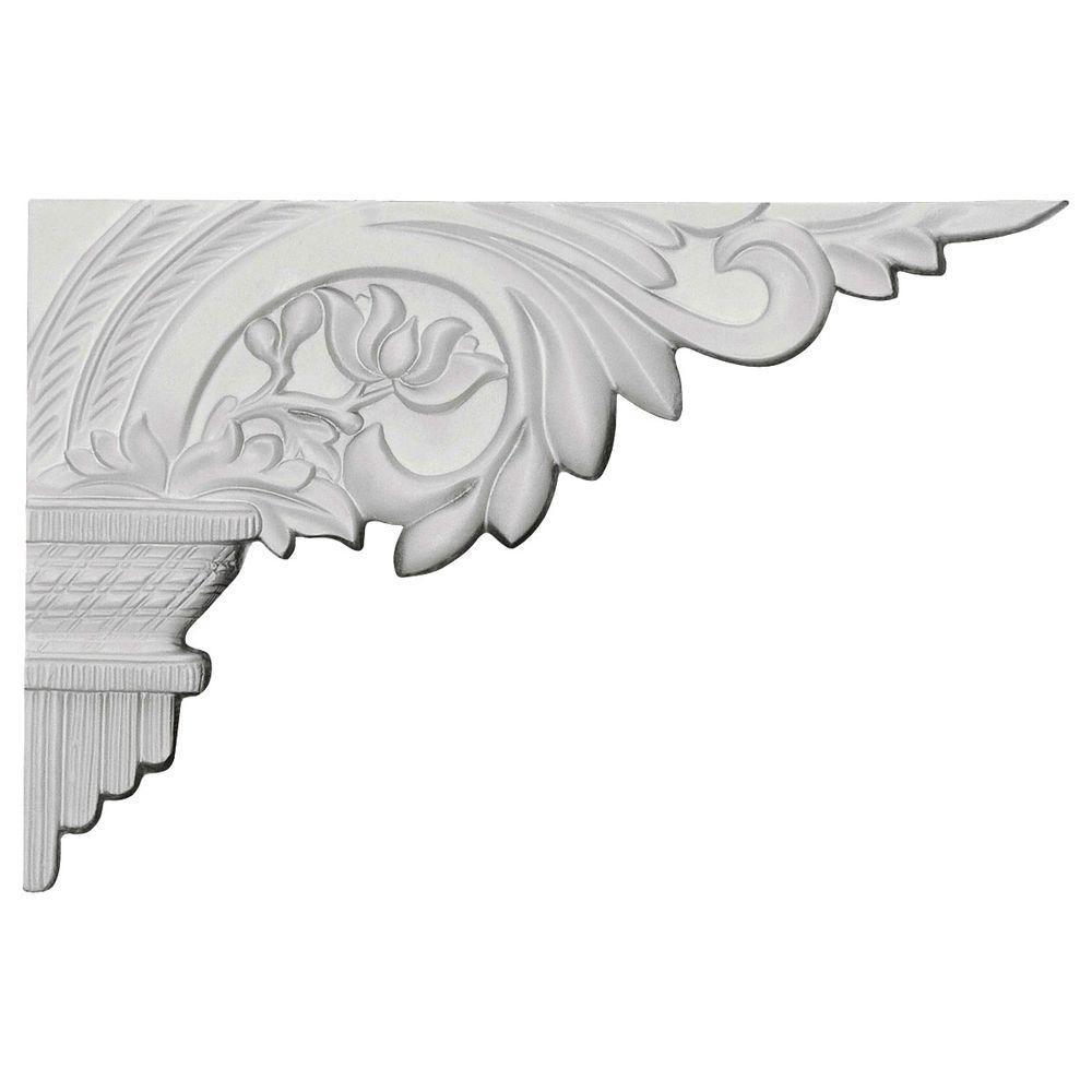 Ekena Millwork 10-5/8 in. x 5/8 in. x 7 in. Primed Polyurethane Telma Right Stair Bracket