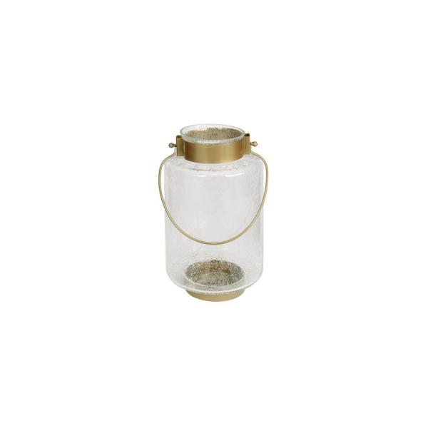 12 in. Metal and Glass Outdoor Patio Lantern