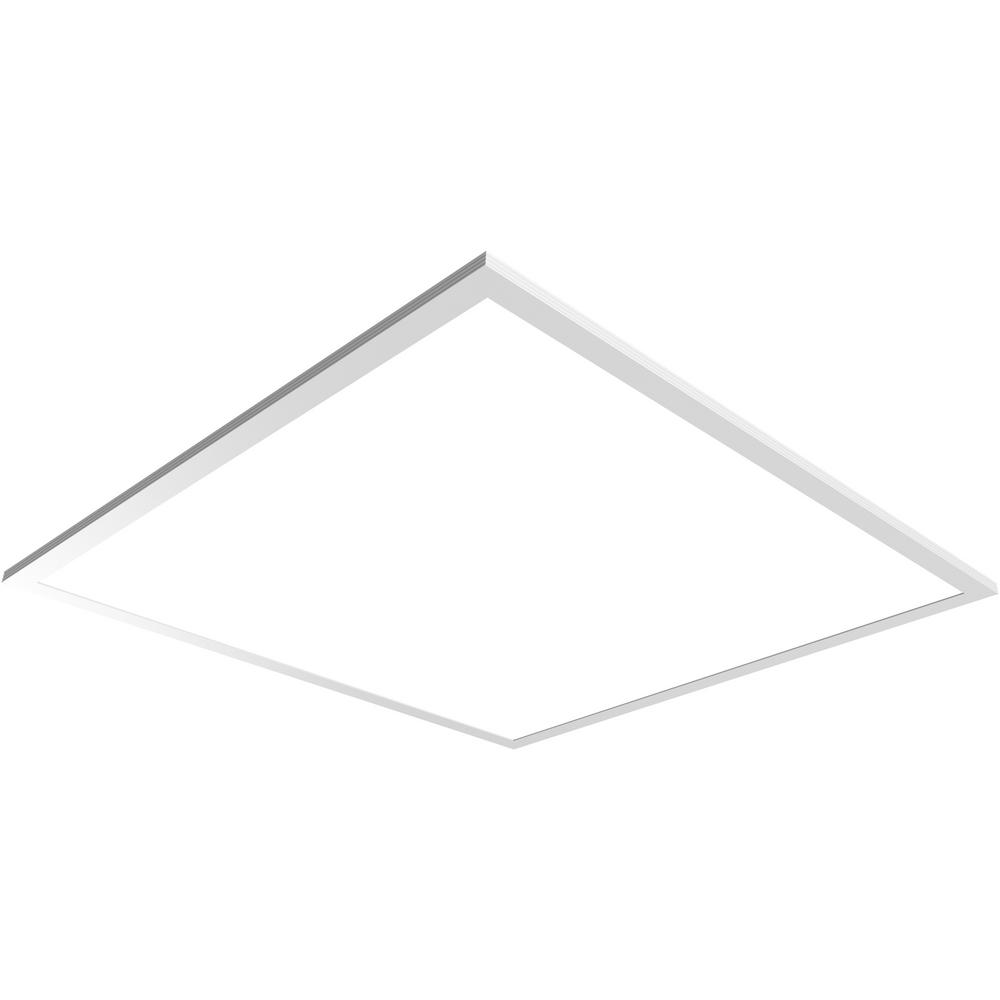 los angeles 37040 f27c8 Commercial Electric 3000 Lumen 2 ft. x 2 ft. White Integrated LED Troffer  Flat Panel