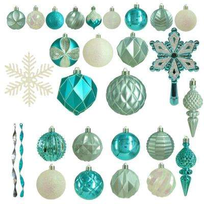 Winter Wishes Shatter-Resistant Assorted Ornament (100-Count)