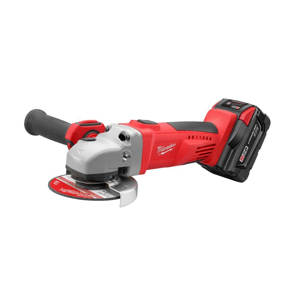 cordless grinder. milwaukee m28 28-volt lithium-ion cordless grinder/cut-off tool kit grinder