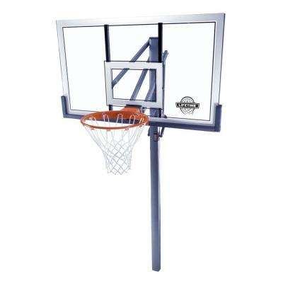 54 in. Acrylic Power Lift In-Ground Basektball System