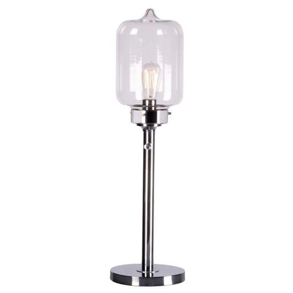 Kenroy Home Casey 28 in. Chrome Table Lamp