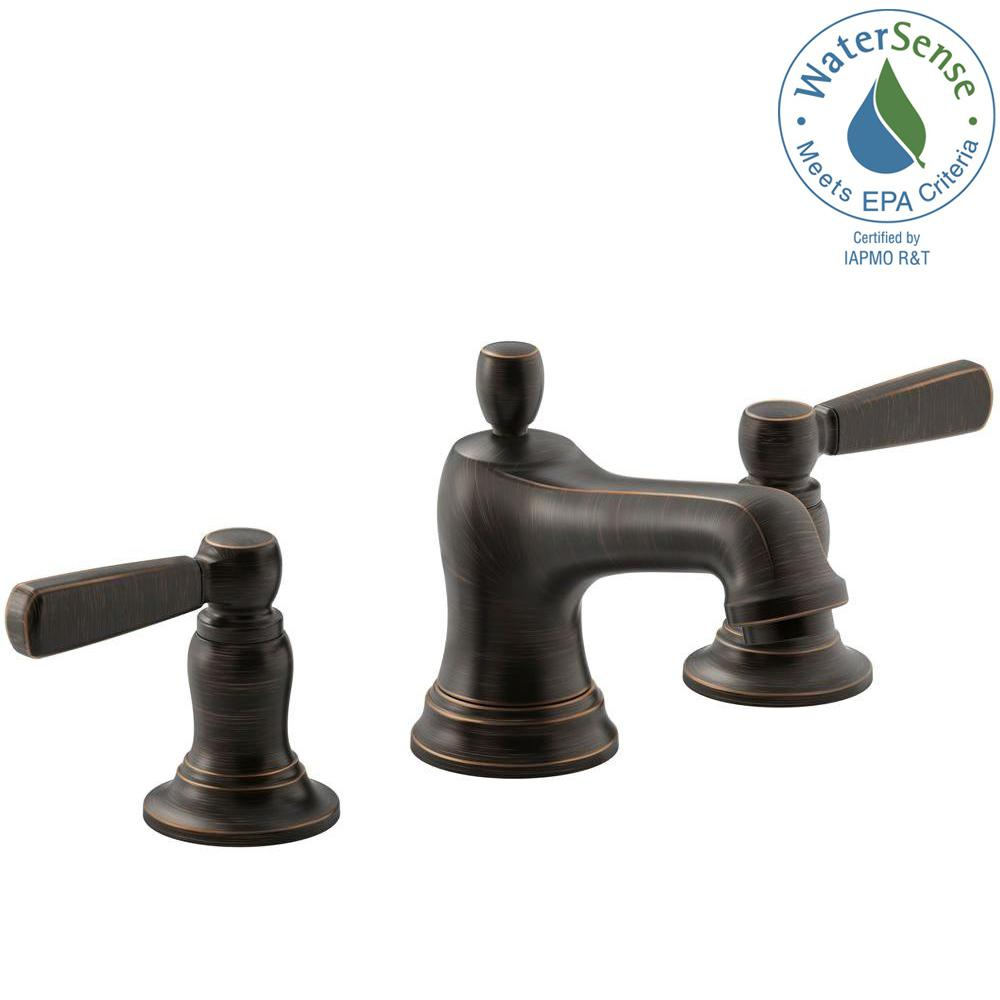 KOHLER Bancroft 8 in. Widespread 2-Handle Bathroom Faucet in Oil ...