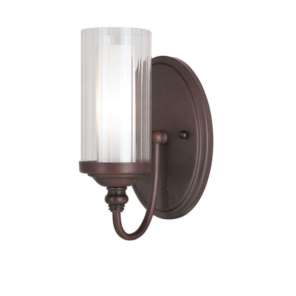 Bel Air Lighting Stewart 1-Light Oil-Rubbed Bronze Incandescent Sconce
