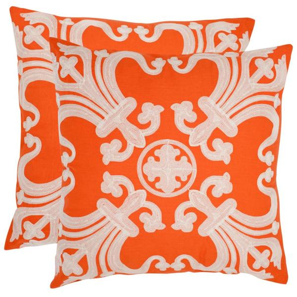 Safavieh Collette Embroidered Pillow (2-Pack)