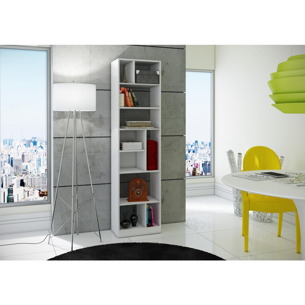 Valenca White Open Bookcase