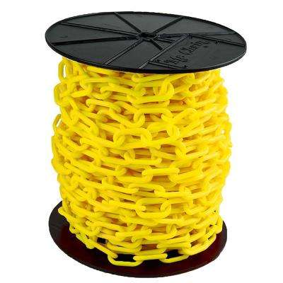 2 in. (#8, 51 mm) x 125 ft. Reel Yellow Plastic Chain