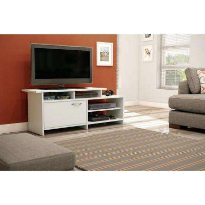 Step One 50-Disk Capacity TV Stand   in Pure White