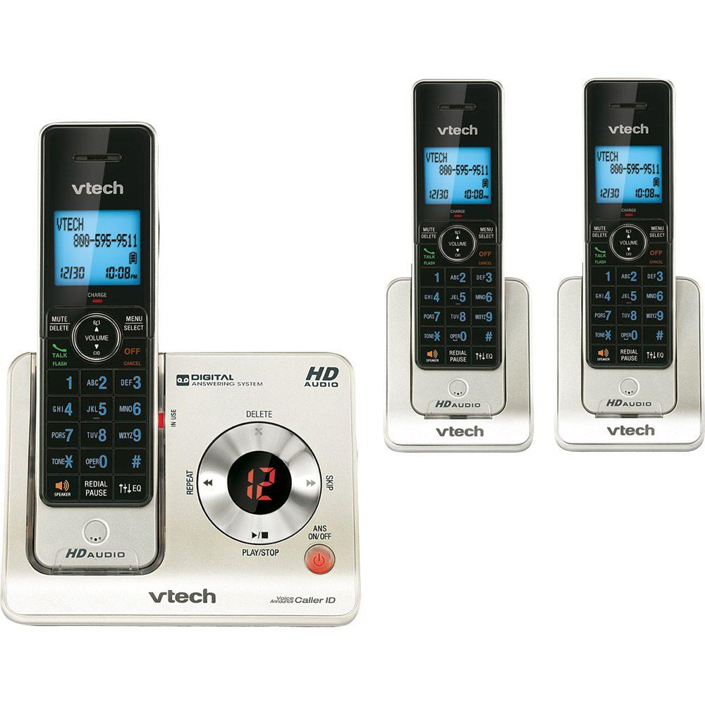 3 Handset Cordless Answering System With Caller ID