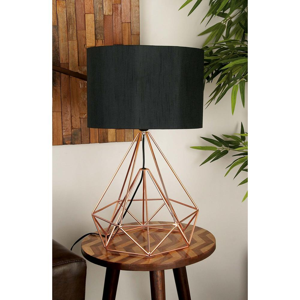 Iron wire lamp wire center 15 in x 26 in modern drum type metal wire table lamp 50589 the rh homedepot greentooth Choice Image