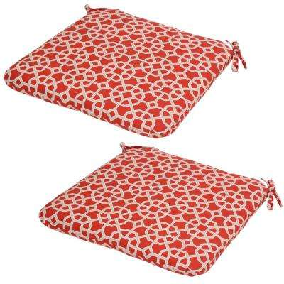 Ruby Geo Outdoor Seat Cushion (Pack of 2)