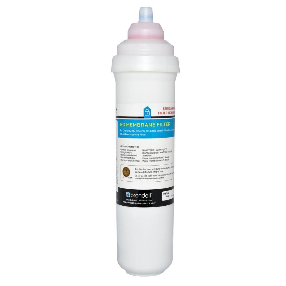 Brondell H2O+ Circle Reverse Osmosis Membrane Replacement Filter - Single Filter