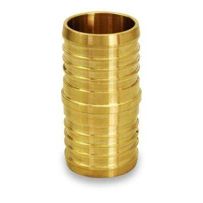 3/8 in. Brass PEX x PEX Straight Coupling Barb Pipe Fitting (10-Pack)