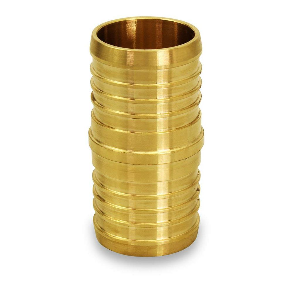1/2 in. Brass PEX x PEX Straight Coupling Barb Pipe Fitting