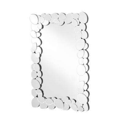 Emory 23 in. Contemporary Rectangle Mirror with Clear MDF Frame, Rectangle Shape, Mounting Type: D Ring