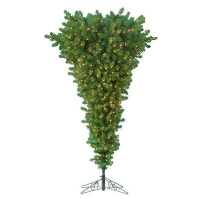5 ft. Pre-Lit Upside Down Pine Artificial Christmas Tree with Clear Lights