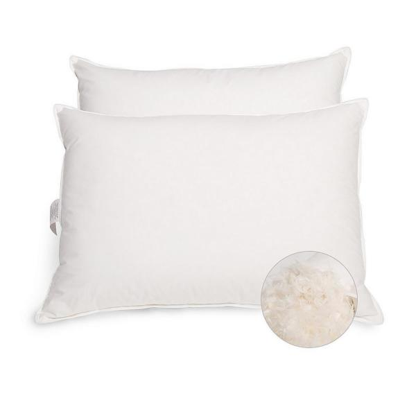 Peace nest White Hypoallergenic Feather & Down Jumbo Pillow (Set of 2)