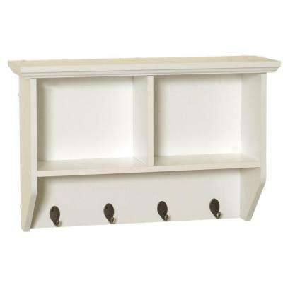 Collette 23 in. W Wall Cubby Shelf in White