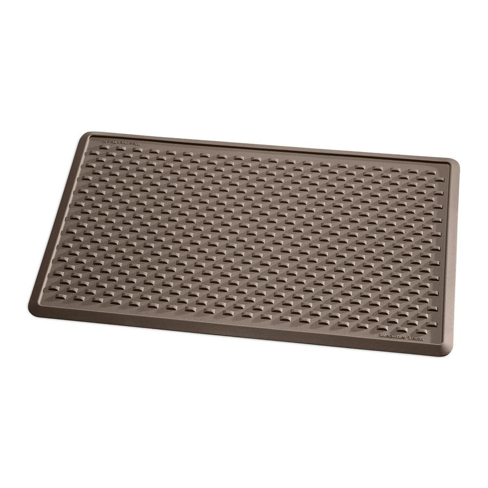 WeatherTech Brown 24 in. x 39 in. TPE Indoor Mat