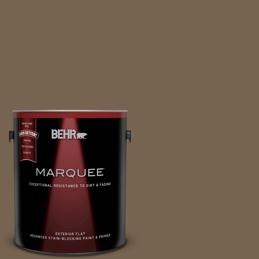 1 gal. #BNC-35 Ground Pepper Flat Exterior Paint and Primer in