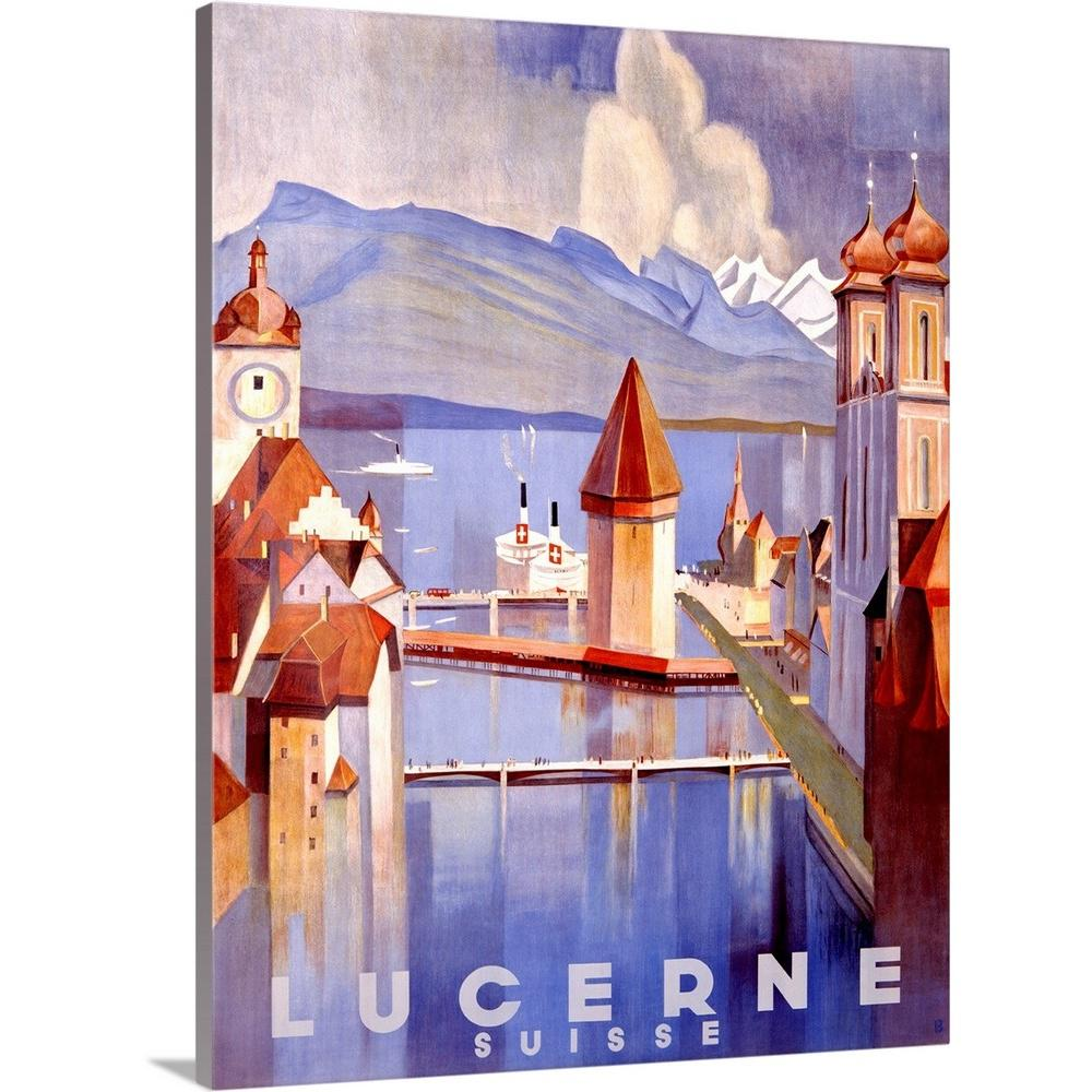 """Lucerne Vintage Advertising Poster"" by Great BIG Canvas Canvas Wall Art"