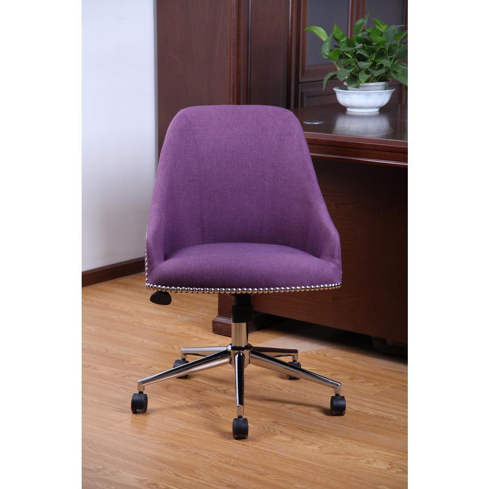 Purple Carnegie Desk Chair