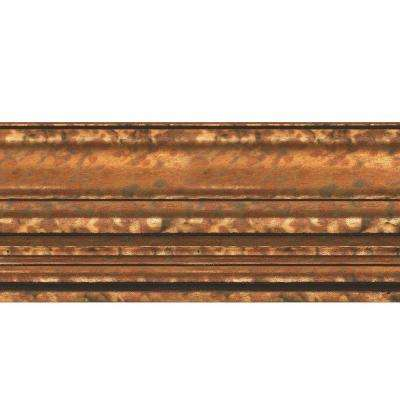 Classic 0.75 in. x 6.125 in. x 96 in. Wood Ceiling Crown Molding in Cracked Copper